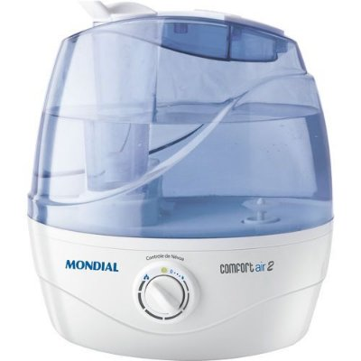 Umidificador de Ar Mondial Ultrassônico Comfort Air 2 - 2,2 Litros Nua-02 Branco e Azul  - Bivolt