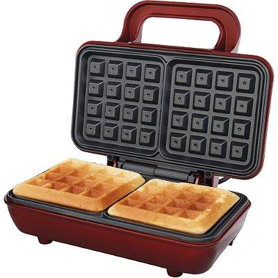 Máquina de Waffle Philco Retrô 700W PWM01V Vermelho - 127V