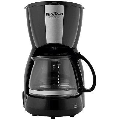 Cafeteira Elétrica Britânia 30 Xícaras CP30 Preto/Inox - 127V
