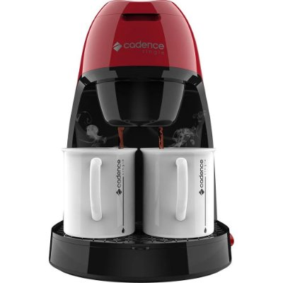 Cafeteira Elétrica Single Cadence Colors 450W CAF211 Preto e Vermelha - 127V