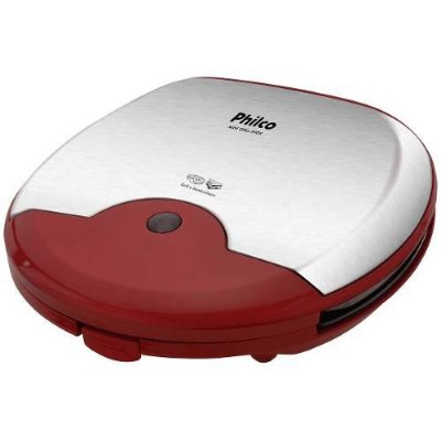 Mini Grill e Sanduicheira Philco 750W Inox e Vermelho - 127V