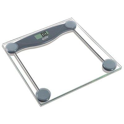 Balança Digital G-tech Glass 10 até 150Kg Vidro Temperado BALGL10 Transparente - Bateria