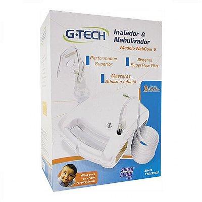 Nebulizador e Inalador G-Tech Nebcom V Branco - Bivolt