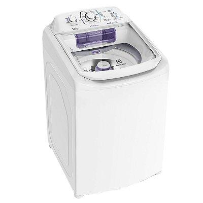 Máquina de Lavar Electrolux 12Kg com Dispenser Autolimpante e Cesto Inox LAC12 Branca - 127V