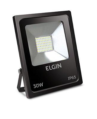 Refletor de Led Elgin IP65 30W 6500K Preto - Bivolt