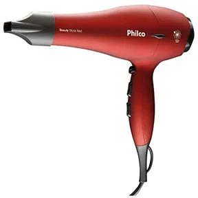 Secador de Cabelo Philco Beauty Style 1900W Vermelho - 127V