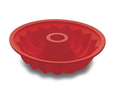 Forma de Silicone Hercules Redonda 25.7X6.5cm Vermelha SLC105VM