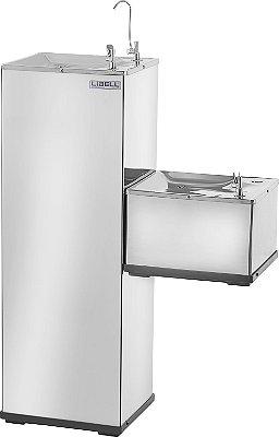 Purificador de Água de Coluna Libell Press Side em Inox 220V