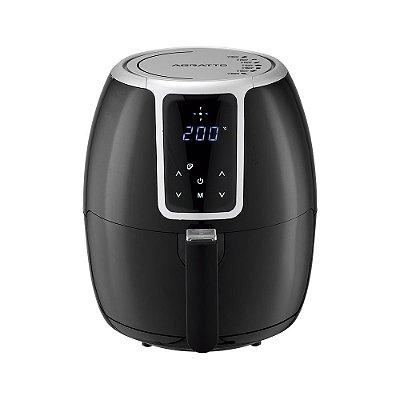 Fritadeira Elétrica Digital Air Fryer 3,6 Litros 1400W Preta - Supremma FESD01 - 127V - Agratto