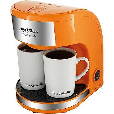Cafeteira Elétrica com 2 Xícaras 450W Laranja - Duo Coffee - 220V - Britânia