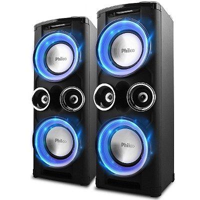 Caixa de Som Bluetooth Philco PHT12000 Double Preto - Bivolt