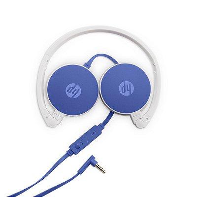 Fone de Ouvido Headphone HP com Microfone Dobrável H2800 Dragon Fly Azul