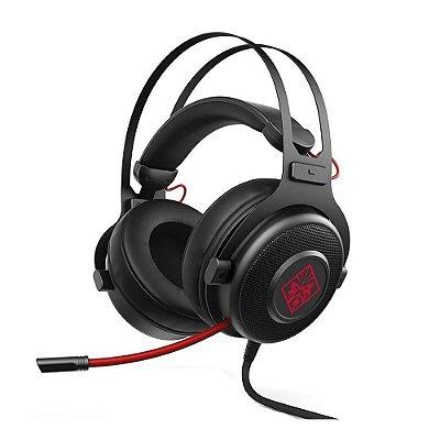 Headset Gamer HP com Microfone Omen 800 P2 com Adaptador P3 e controle de Volume  - Preto