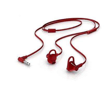 Fone de Ouvido Intra-Auricular HP com Microfone H150 Vermelho