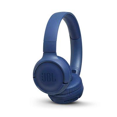 Fone de Ouvido Headphone Bluetooth JBL T500BT com Microfone - Azul