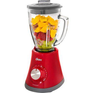 Liquidificador Oster Super Chef com 8 Velocidades 750W Vermelho - 220V