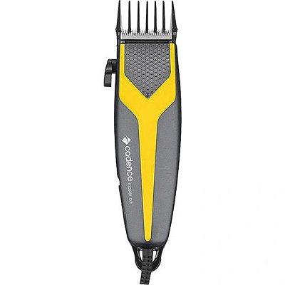 Máquina de Cortar Cabelo Cadence Master Cut CAB174 10W Prata e Amarelo - 127V