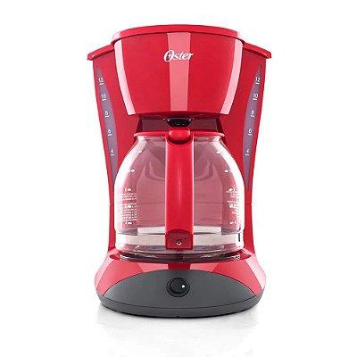 Cafeteira Elétrica 12 Xícaras 900W Vermelha - Red Cuisine BVSTDCDW12R - 220V - Oster