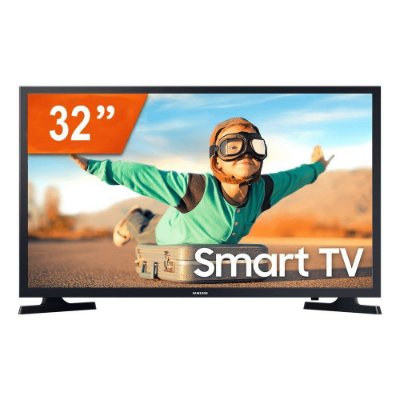 "Smart TV LED 32"" Samsung LH32BETBLGGXZD HD 2HDMI 1USB Wifi Preto Bivolt"