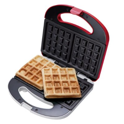 Máquina de Waffle Cadence 750W WAF100 Vemelha - 127V