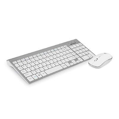 Kit Teclado e Mouse sem Fio C3Tech K-W510SWH - Branco
