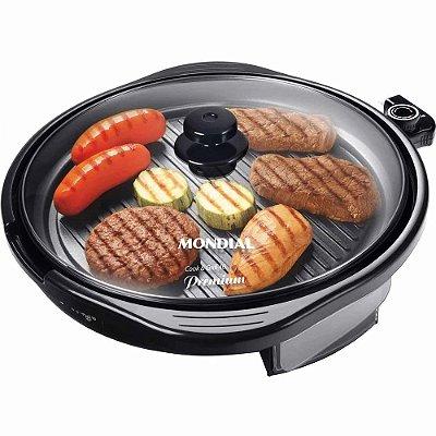 Grill Redondo Mondial Cook & Grill Premium 40cm G-03 Preto - 127V