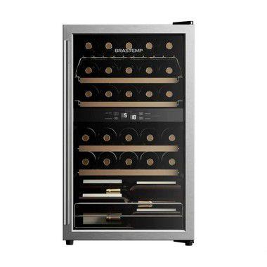 Adega de Vinhos Brastemp Dual Zone 33 Garrafas BZB33BE Inox - 220V
