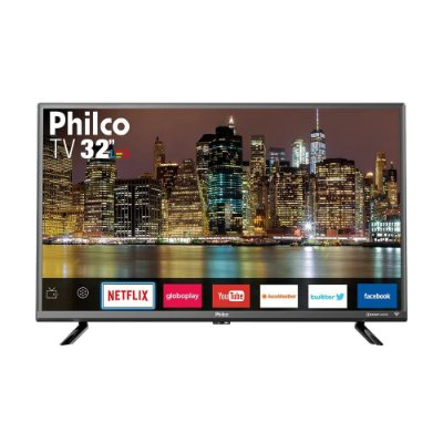 "Smart TV LED 32"" Philco PTV32G50SNS HD Conversor Digital Integrado 2 HDMI 1 USB Wi-Fi com Netflix Áudio Dolby"