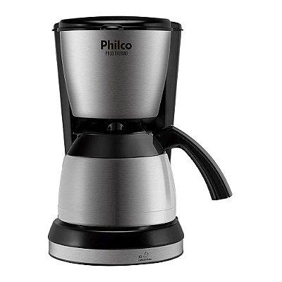 Cafeteira Elétrica Philco Thermo 30 Xícaras 700W PH30 Preto e Prata - 220V