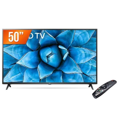 "Smart TV LED 50"" 4K UHD LG 50UN731C 3 HDMI 2 USB Wi-Fi Assitente Virtual Bluetooth"
