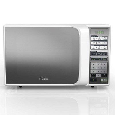 Micro-ondas de Bancada 850W Branco Espelhado 31 Litros - MTFE41 - 127V - Midea