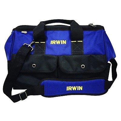 """Mala Irwin Standard para Ferramentas 16"""" com 5 Bolsos - Azul e Preta"""