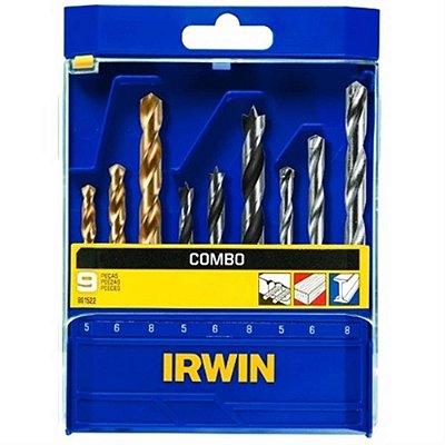 Jogo Combinado de Brocas 9 peças para Metal, Concreto e Madeira - 891522 - Irwin