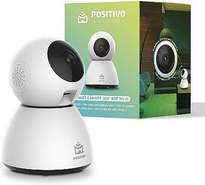 Smart Câmera de Segurança Positivo Casa Inteligente 360º Bot Wi-FI - Branca