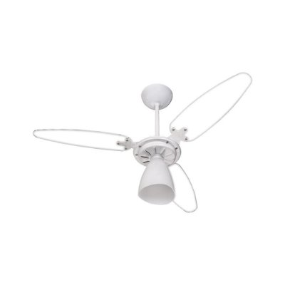 Ventilador de Teto Ventisol Wind Light 3 Pás Branco e Transparente - 220V