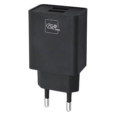 Carregador de Parede i2GO 2 Saídas USB PROWAL020 - Preto