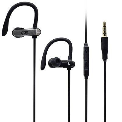 Fone de Ouvido Intra-Auricular i2GO Sport Go com Microfone e Controle Multimídia 1,2m I2GEAR097 - Preto