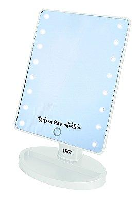 Espelho de Maquiagem Lizz Beauty com Led TQ0850 Branco - A Pilha