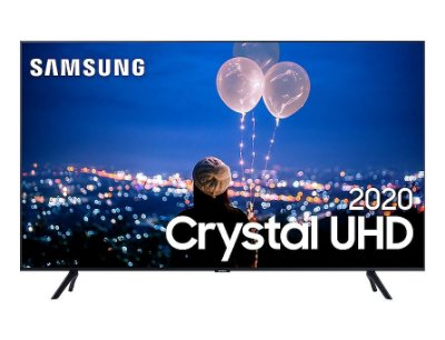 "Smart TV Led Samsung 75"" Crystal UHD 4K 3 HDMI 2 USB Wi-Fi Bluetooth Borda Infinita UN75TU8000GXZD - Preta"
