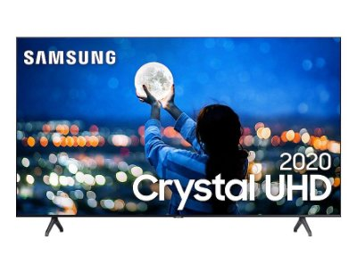 "Smart TV Led Samsung 58"" Crystal UHD 4K 2 HDMI 1 USB Wi-Fi Bluetooth Borda Infinita UN58TU7000 - Cinza"
