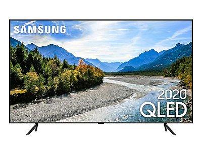 "Smart TV QLED Samsung 55"" QLED 4K Q60T Pontos Quânticos, Borda Infinita, Alexa Built in, Modo Ambiente Foto, Controle Único QN55Q60TAGXZD - Preta"