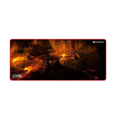 Mouse Pad Gamer C3Tech Doom Fire MP-G1100 Speed - Estampado