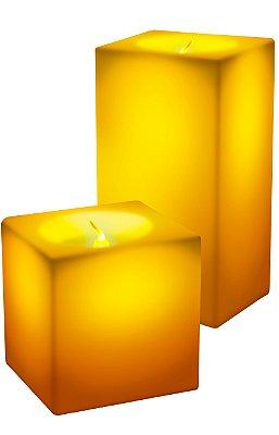 Kit Vela Square Led RelaxMedic RM-VL0015 - Amarelo