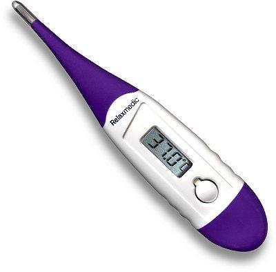 Termômetro Digital RelaxMedic Clean View - Lilás e Branco