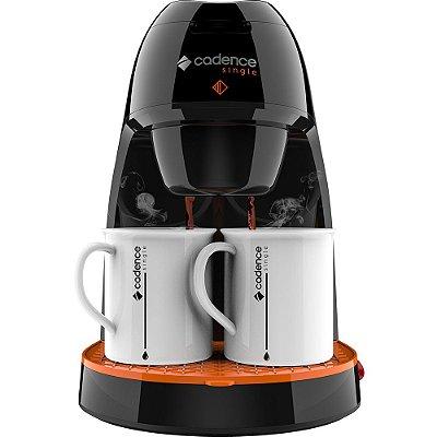 Cafeteira Elétrica com 2 Xícaras 450W Preta e Laranja - Single Contrast CAF218 - Cadence