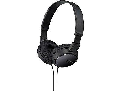 Fone de Ouvido Headphone Sony Dobrável MDR-ZX110 - Preto