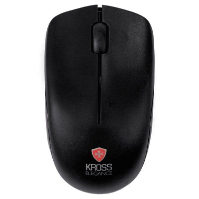 Mouse sem Fio Kross Elegance KE-M206 1000 Dpi - Preto