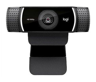 Webcam Logitech C922 Pro Stream Full HD 1080p Tripé Inluso - Preta