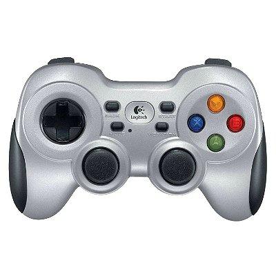 Controle Gamer Logitech F710 para PC e TV - Prata