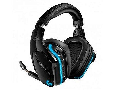 Headset Gamer Logitech G935 sem Fio  Som Surround 7.1 - Preto